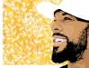 Hand drawn image of rapper Common