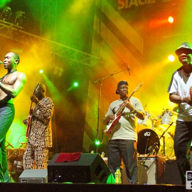 Seun Kuti and Egypt 80 on the Fusion stage at Exit