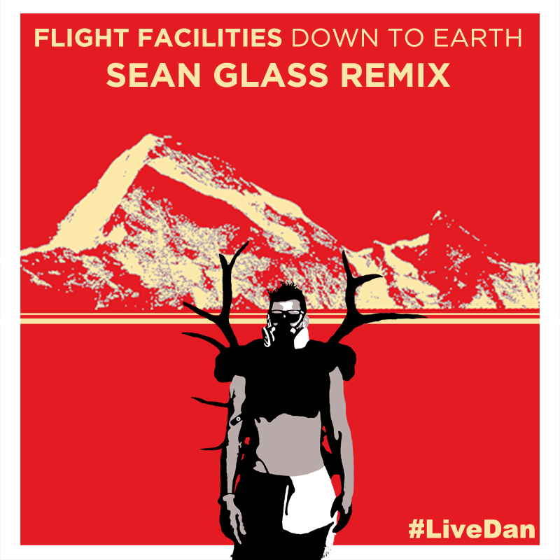 Flight Facilities Down to Earth Sean Glass Remix Artwork