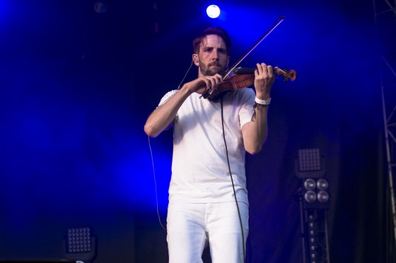 Owen Pallett, playing the violin on the Main Stage.